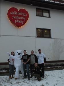 Wolontariusze Suwalskiego Sztabu WOŚP w Warszawie.