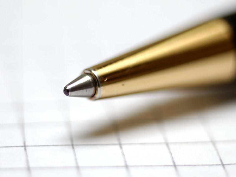 Zdjęcie makro długopisu